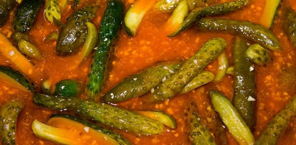 Ogórki chili