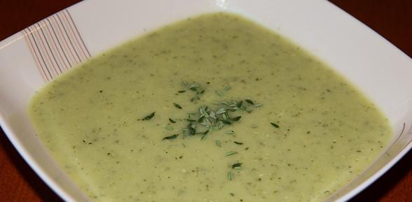 Zupa krem z cukini z tymiankiem